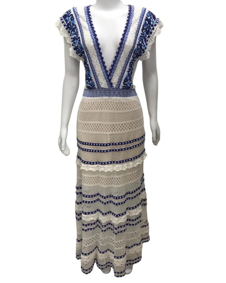 Vestido Cecilia Prado de Tricô Azul