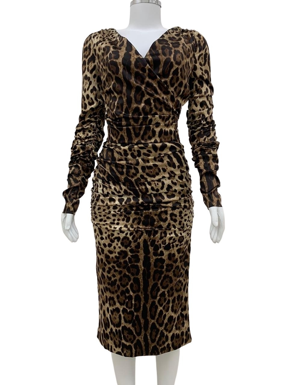 Vestido Dolce & Gabbana Leopard Print