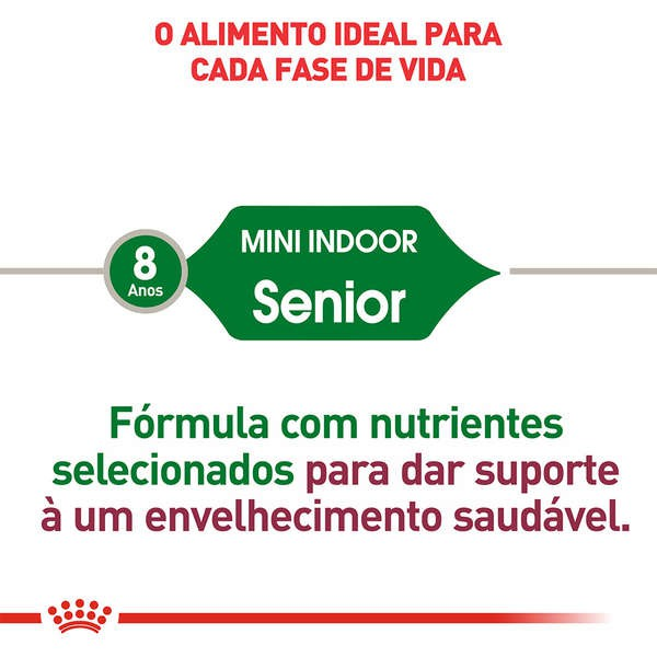 ROYAL CANIN MINI INDOOR SENIOR RAÇÃO SECA PARA CÃES DE RAÇAS PEQUENAS COM 8+ ANOS