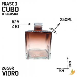 FRASCO CUBO R28 DEGRADE MARROM 250ML