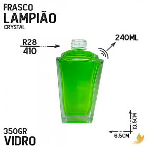 FRASCO LAMPIAO R28 CRYSTAL 240ML