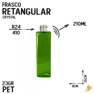 FRASCO PET RETANGULAR R24 210ML