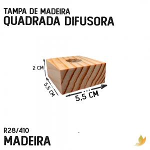 TAMPA DE MADEIRA QUADRADA DIFUSORA R28