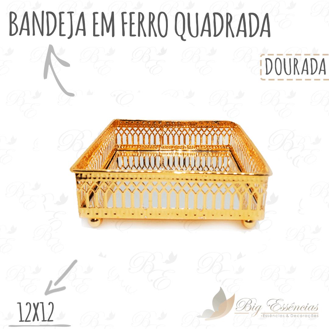BANDEJA EM FERRO QUADRADA 12X12