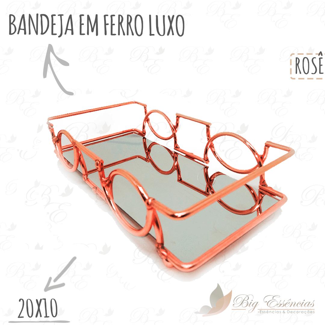 BANDEJA EM FERRO RETANGULAR 20X10 LUXO