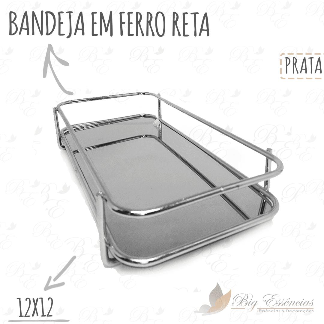 BANDEJA EM FERRO RETANGULAR 20X10 RETA