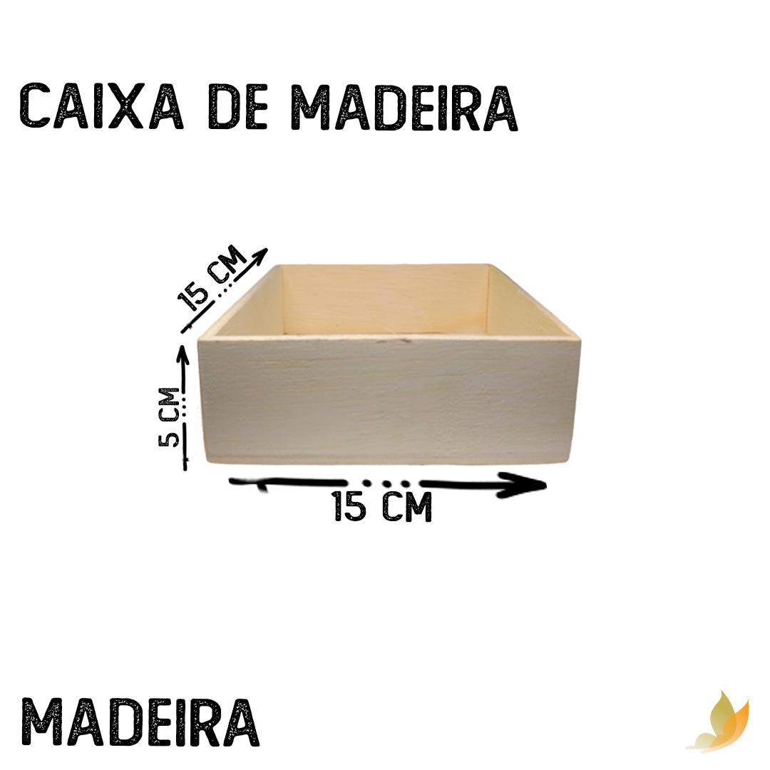 CAIXA DE MADEIRA 15C X 15L