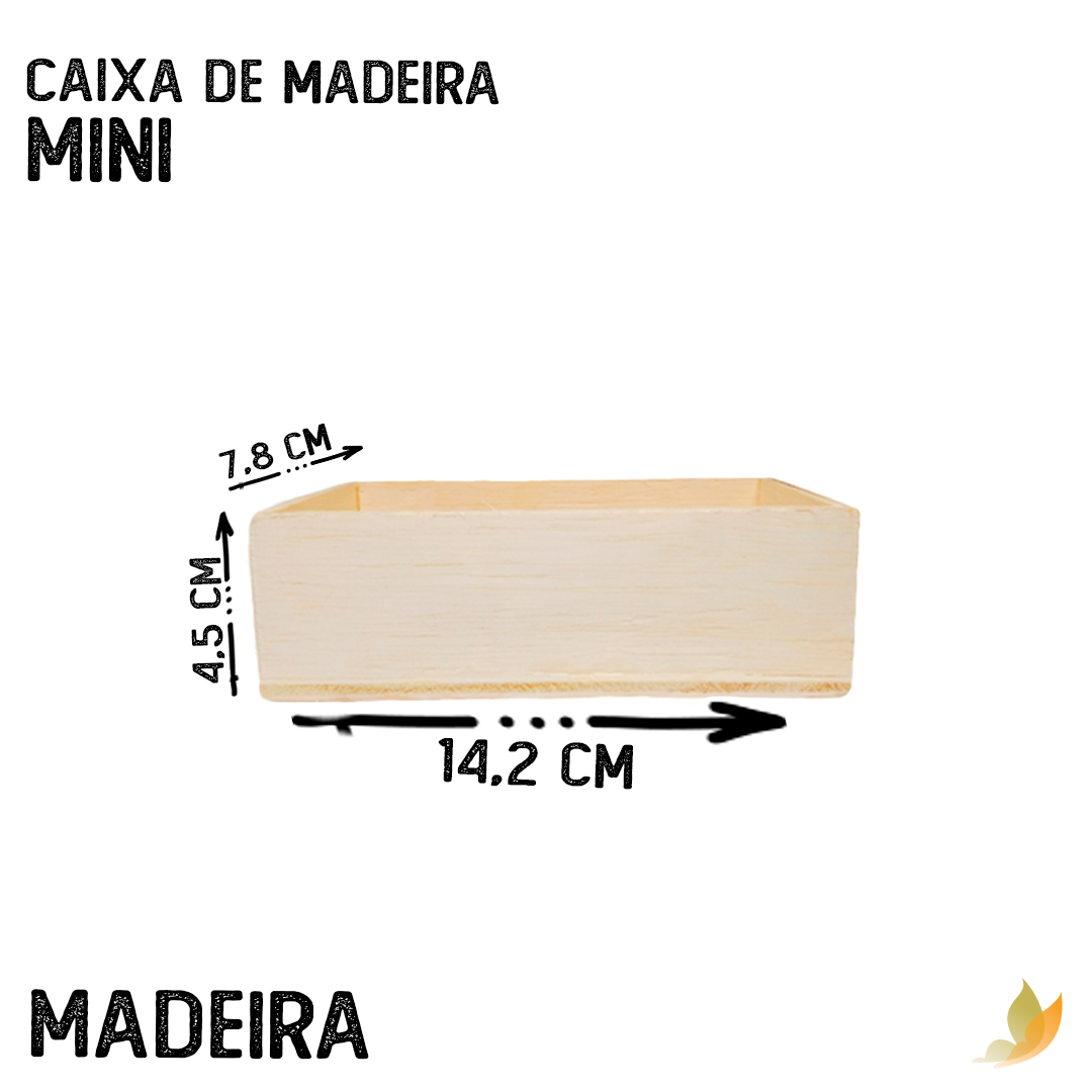 CAIXA DE MADEIRA MINI 6,5C X 13L X 4A