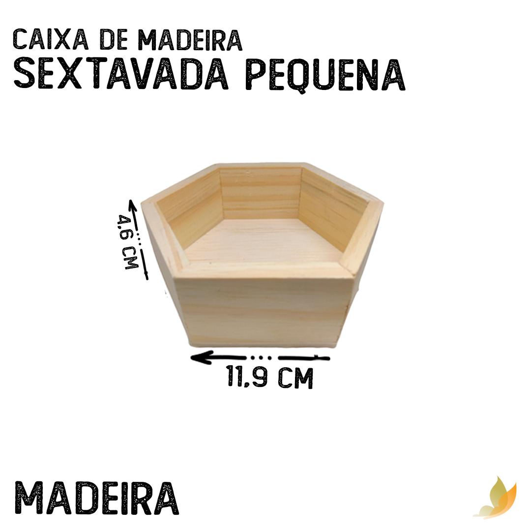 CAIXA DE MADEIRA SEXTAVADA 11C X 10L X 4A