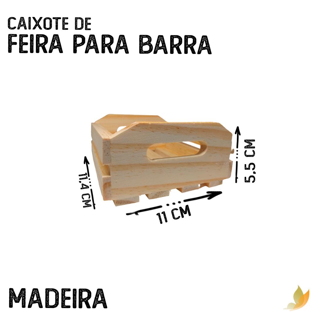 CAIXOTE DE FEIRA PARA BARRA 12,5C X 11L X 5,5A