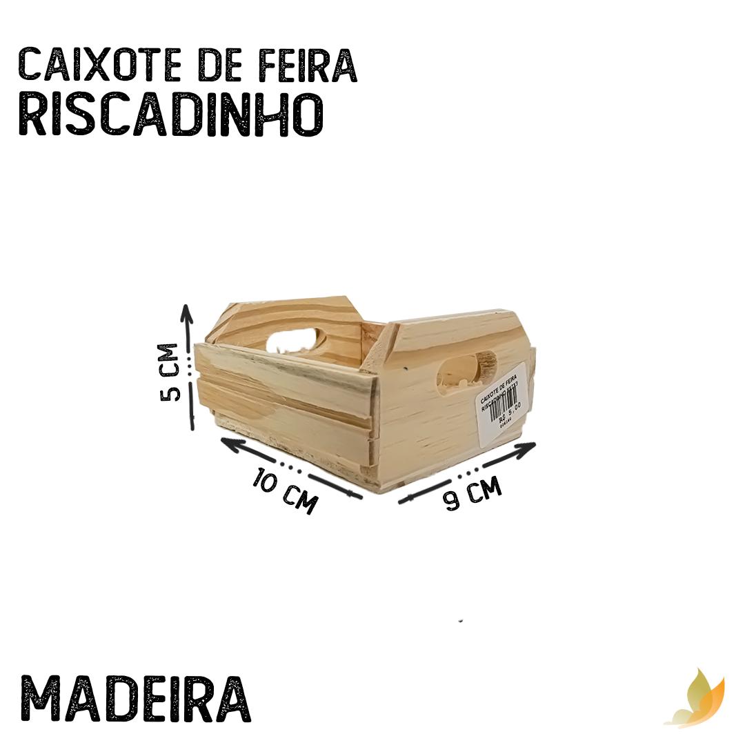 CAIXOTE DE FEIRA RISCADINHO 8X7X3
