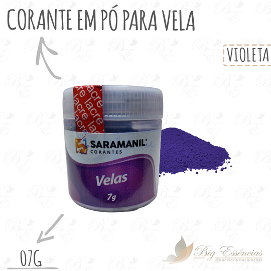 CORANTE P/VELA VIOLETA 7 G