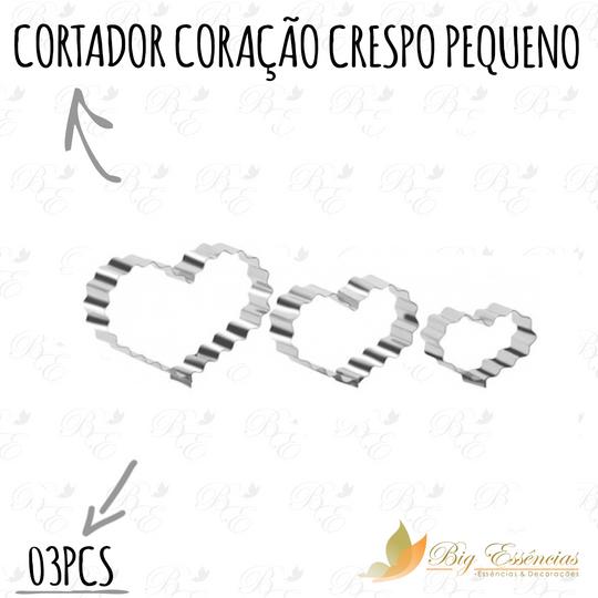CORTADOR CORACAO CRESPO PEQUENO 03 PCS