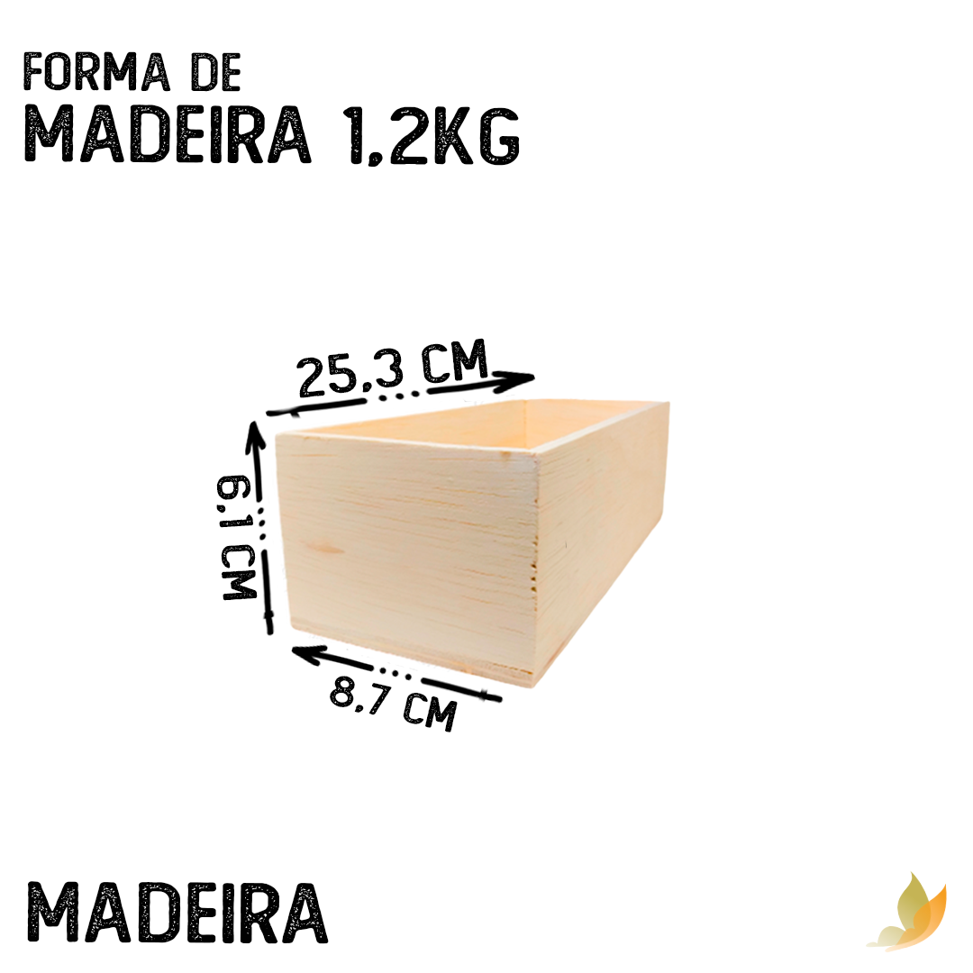 FORMA DE MADEIRA 1,2 KG