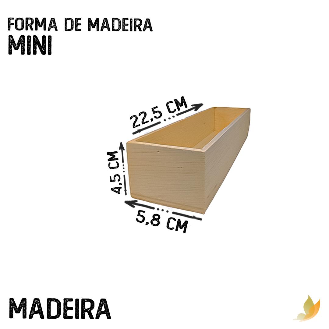 FORMA DE MADEIRA BARRA MINI 22,5C X 5L X 5A