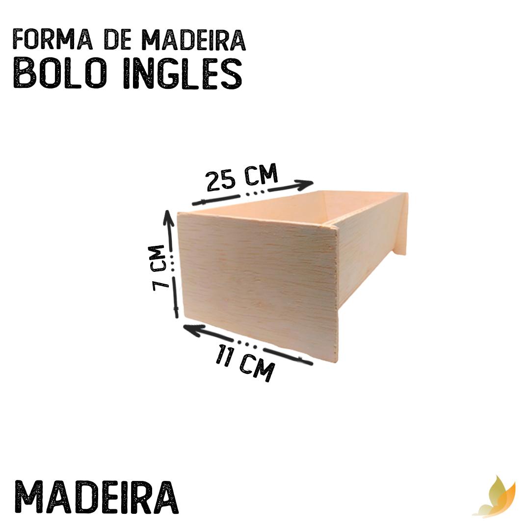 FORMA DE MADEIRA BOLO INGLES
