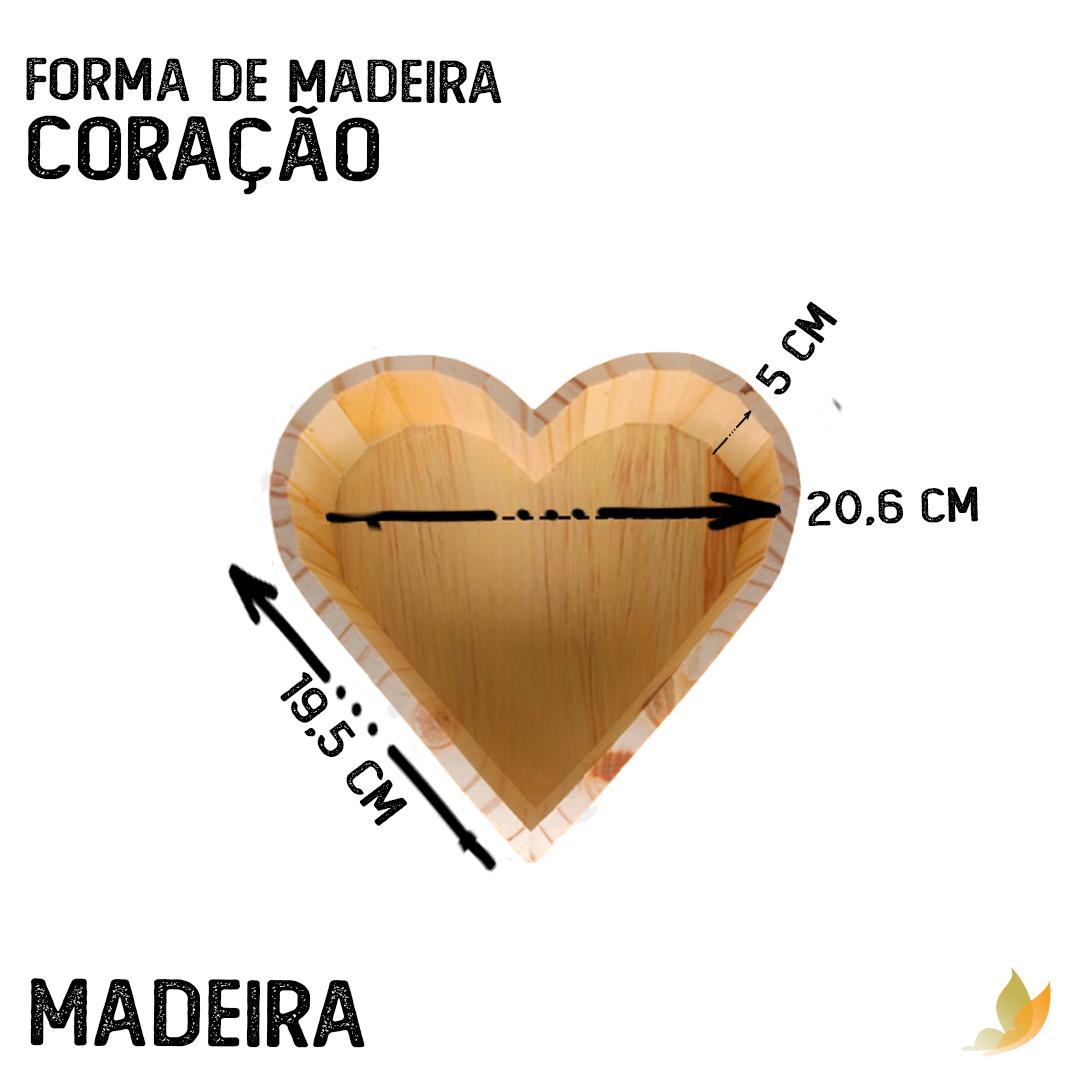 FORMA DE MADEIRA CORACAO 21,5C X 20L X 6A