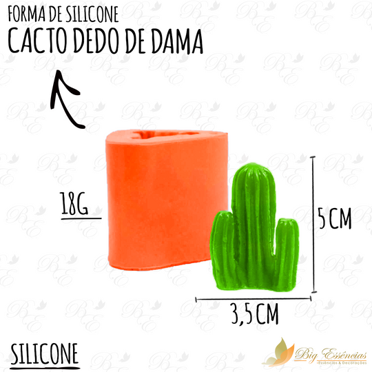 FORMA DE SILICONE CACTO DEDO DE DAMA
