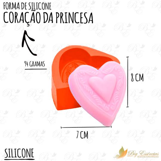 FORMA DE SILICONE CORACAO DA PRINCESA