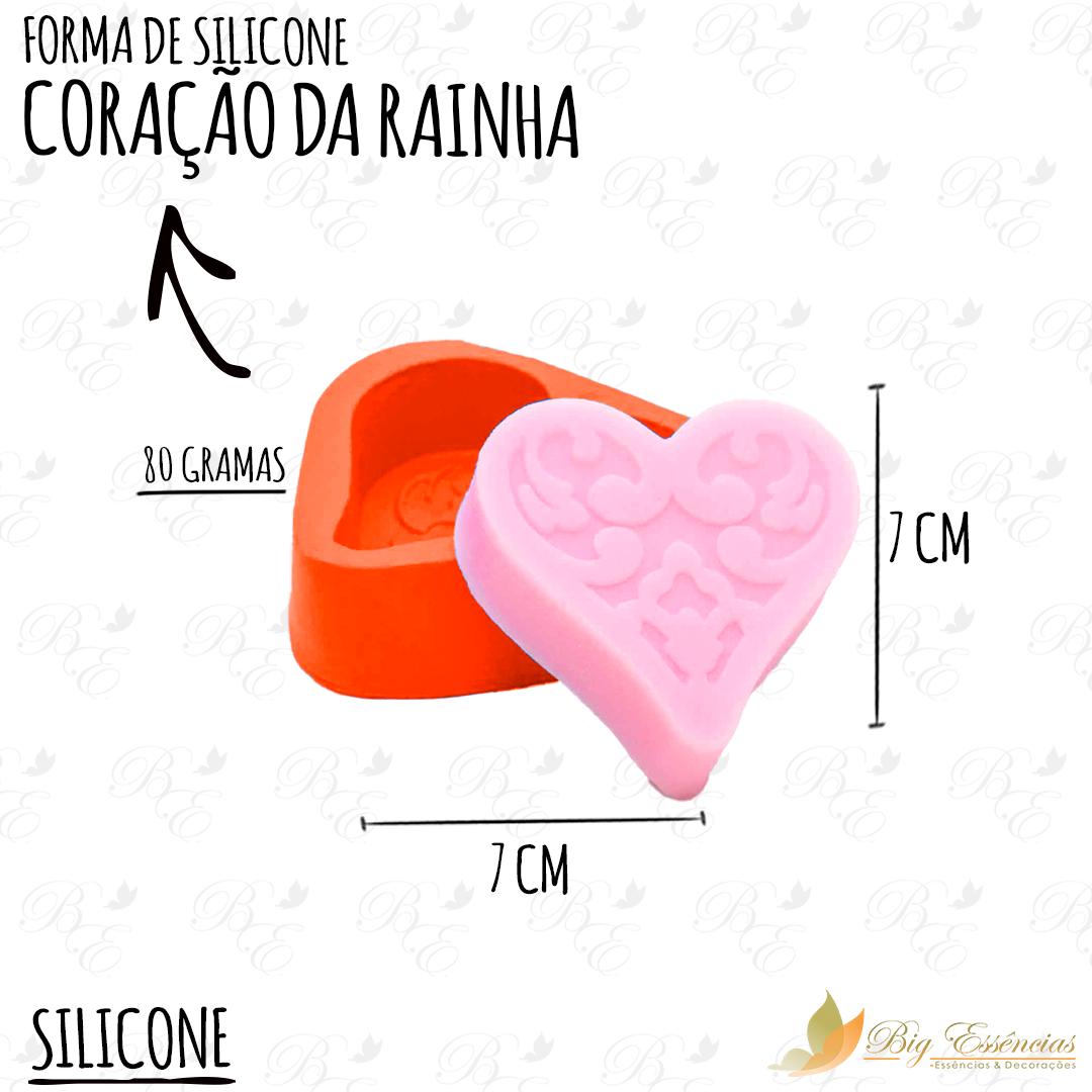 FORMA DE SILICONE CORACAO DA RAINHA