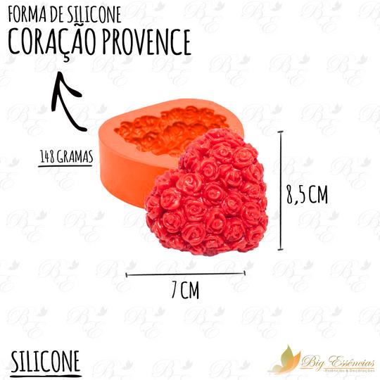 FORMA DE SILICONE CORACAO PROVENCE
