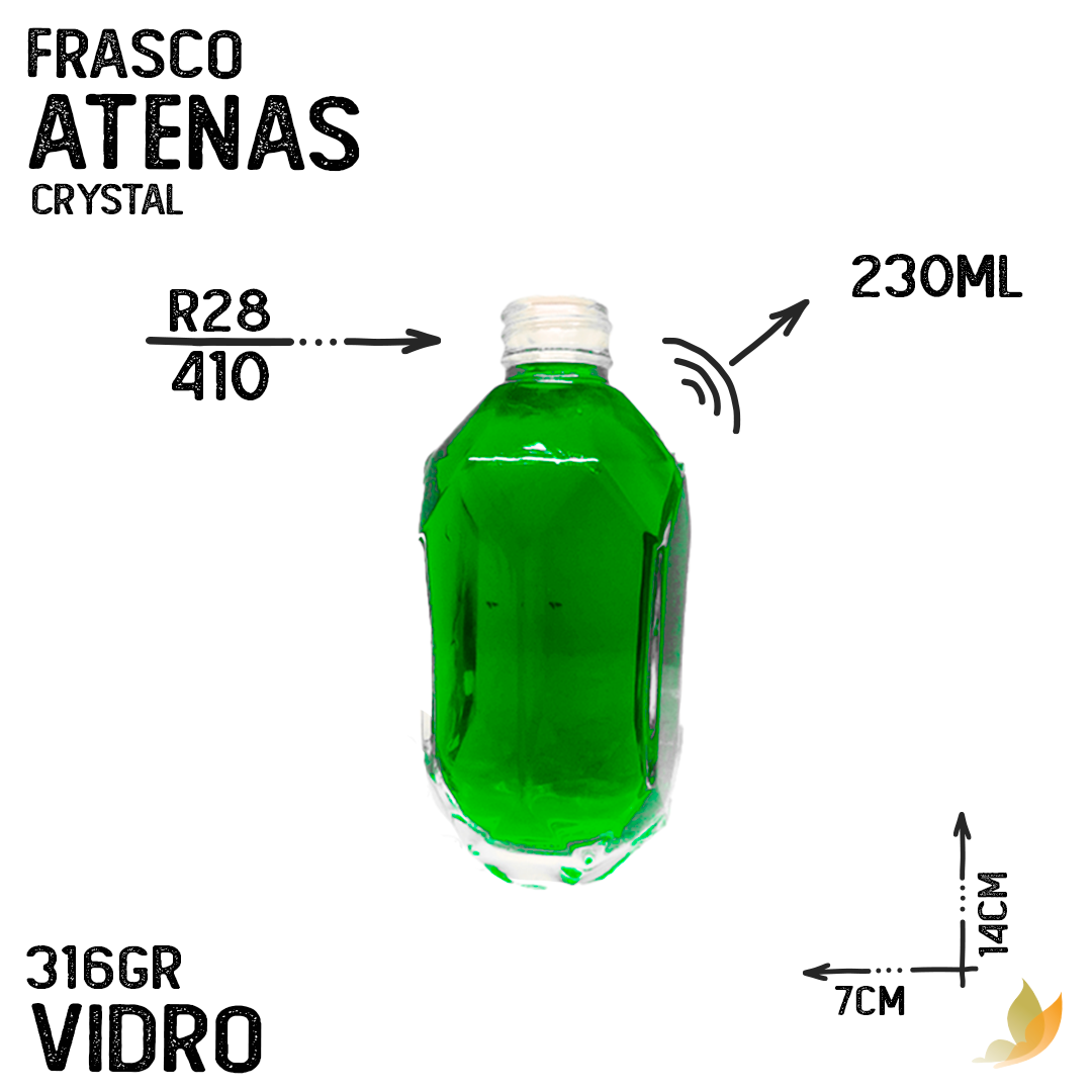 FRASCO ATENAS R28 CRYSTAL 230ML