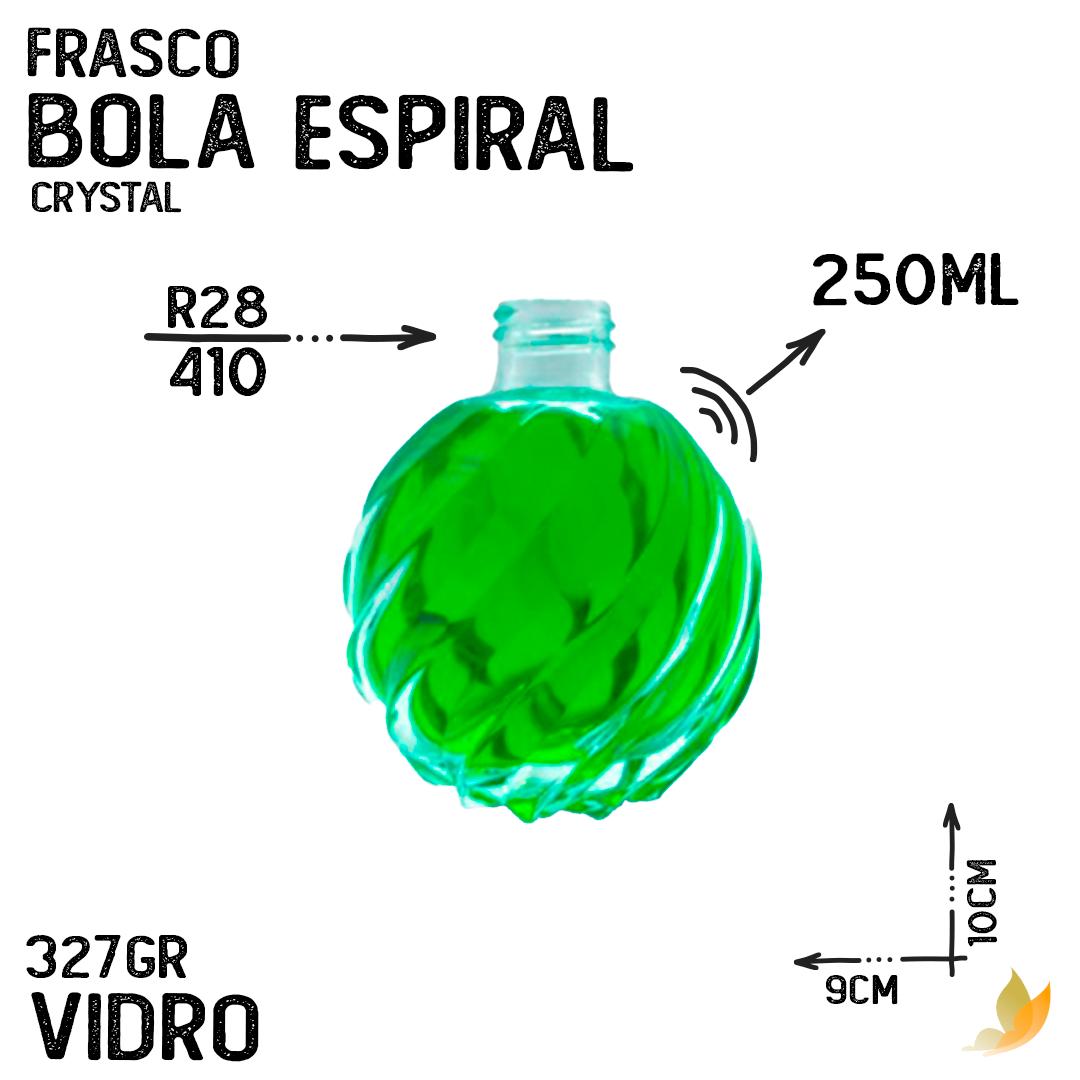 FRASCO BOLA ESPIRAL R28 CRYSTAL 250ML