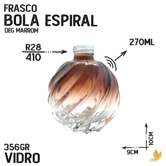 FRASCO BOLA ESPIRAL R28 DEGRADE MARROM 250ML