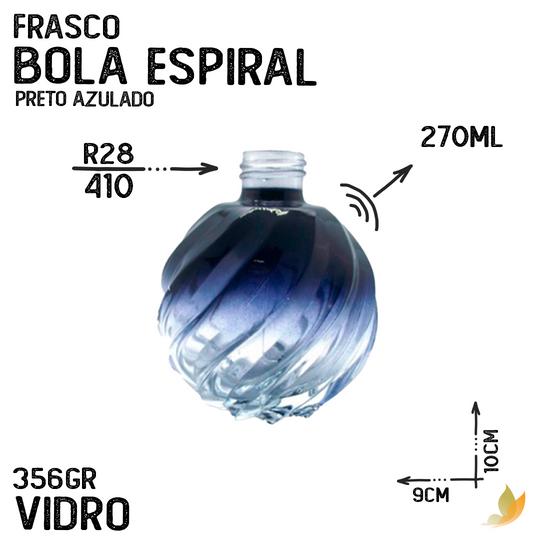 FRASCO BOLA ESPIRAL R28 DEGRADE PRETO AZUL 250ML