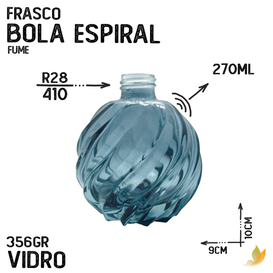 FRASCO BOLA  ESPIRAL R28 FUME 250ML