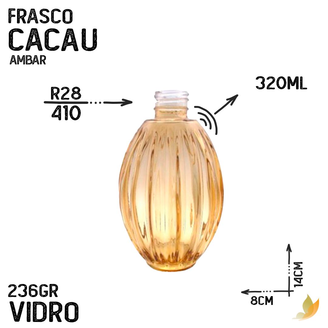 FRASCO CACAU R28 AMBAR 330ML