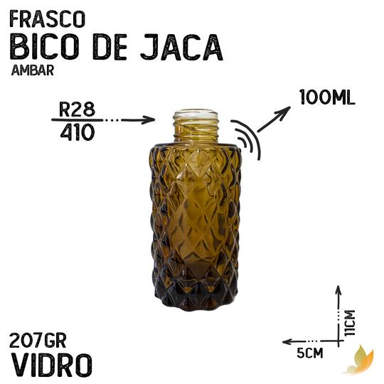 FRASCO CILINDRICO BICO DE JACA R28 AMBAR 110ML