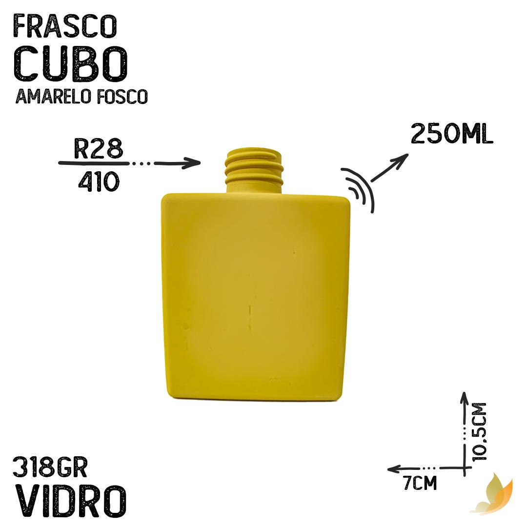 FRASCO CUBO R28/410  AMARELO FOSCO 250ML