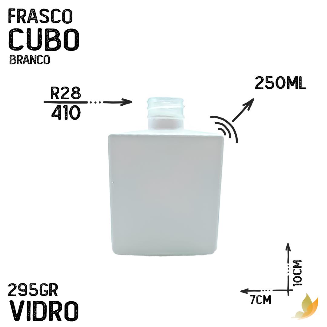 FRASCO CUBO R28 BRANCO 250ML