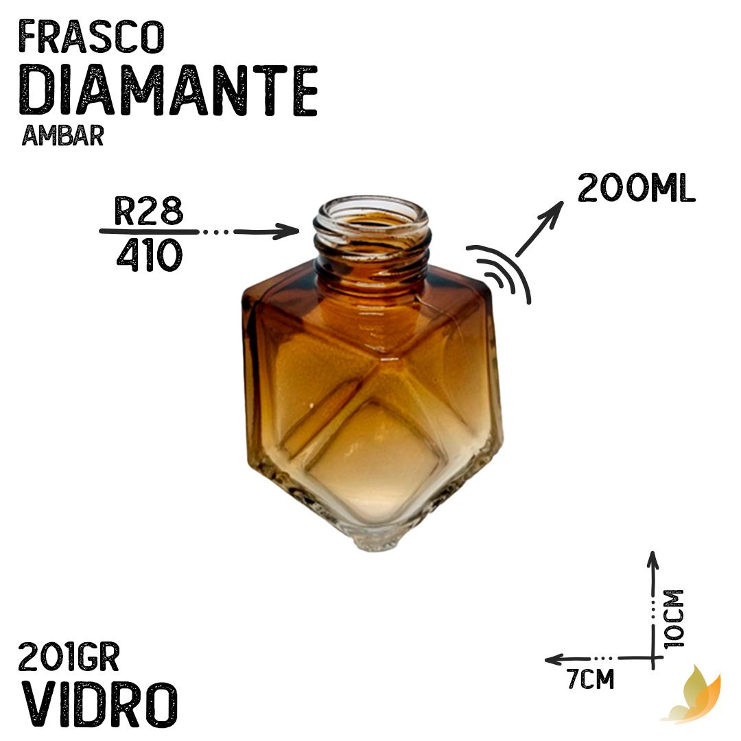 FRASCO DIAMANTE R28 AMBAR 200ML