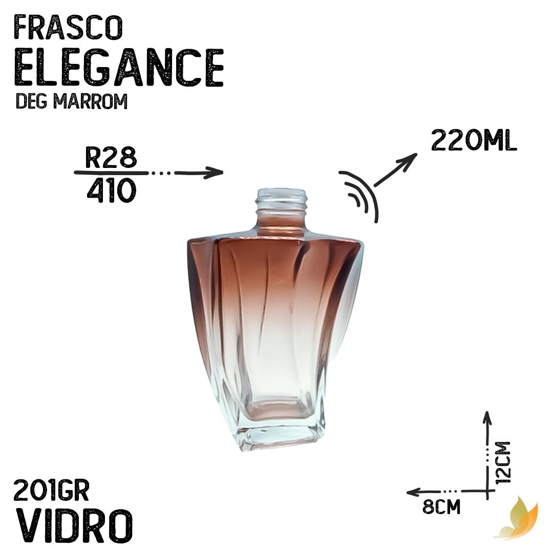 FRASCO ELEGANCE R28 DEGRADE MARROM 200ML
