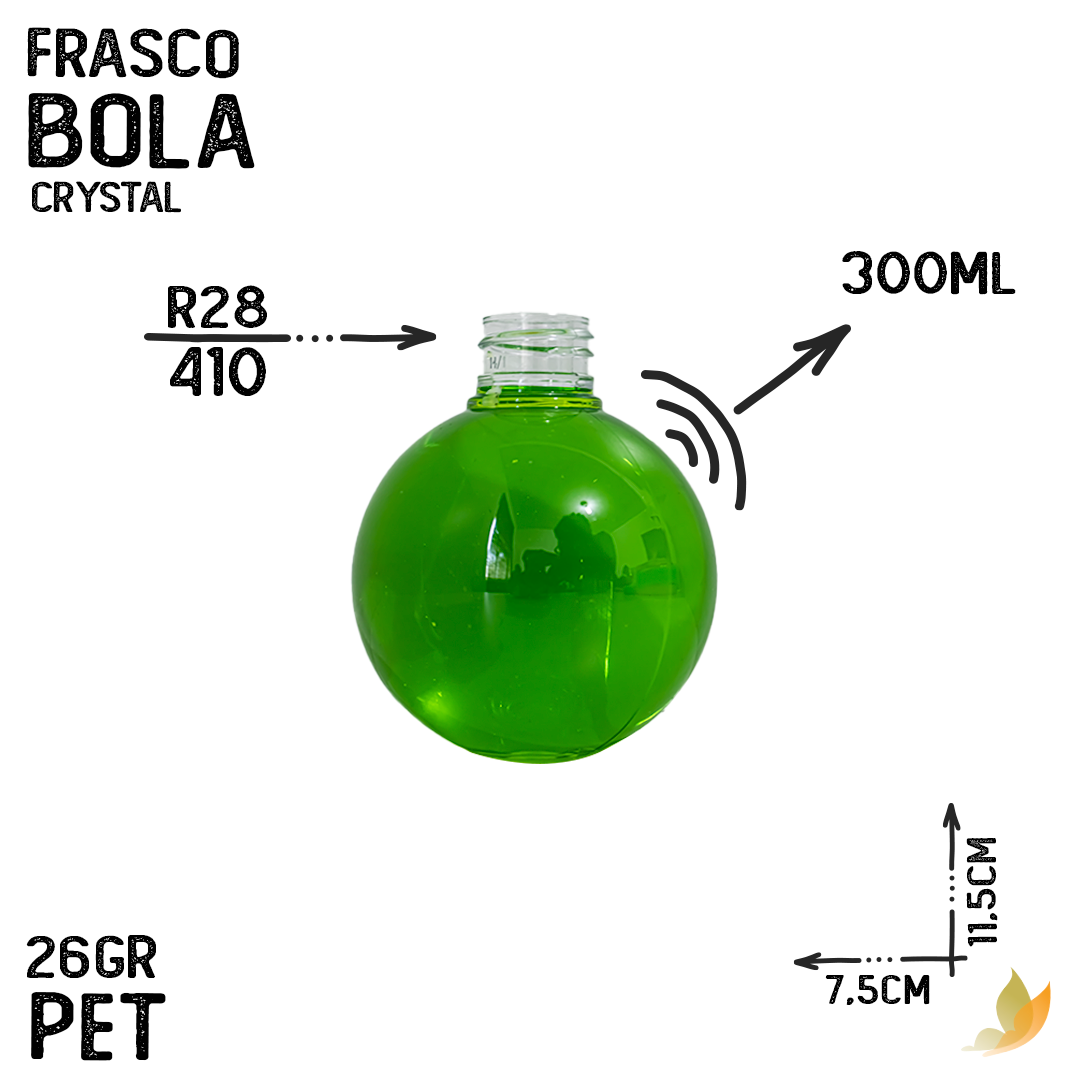 FRASCO PET BOLA R28/410 300ML