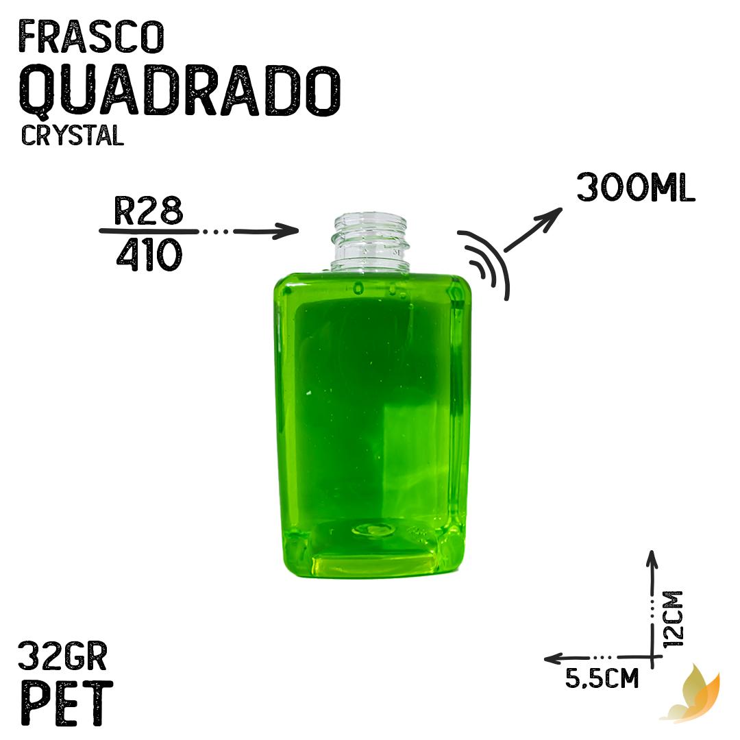 FRASCO PET CUBO BAIXO R28/410 300ML