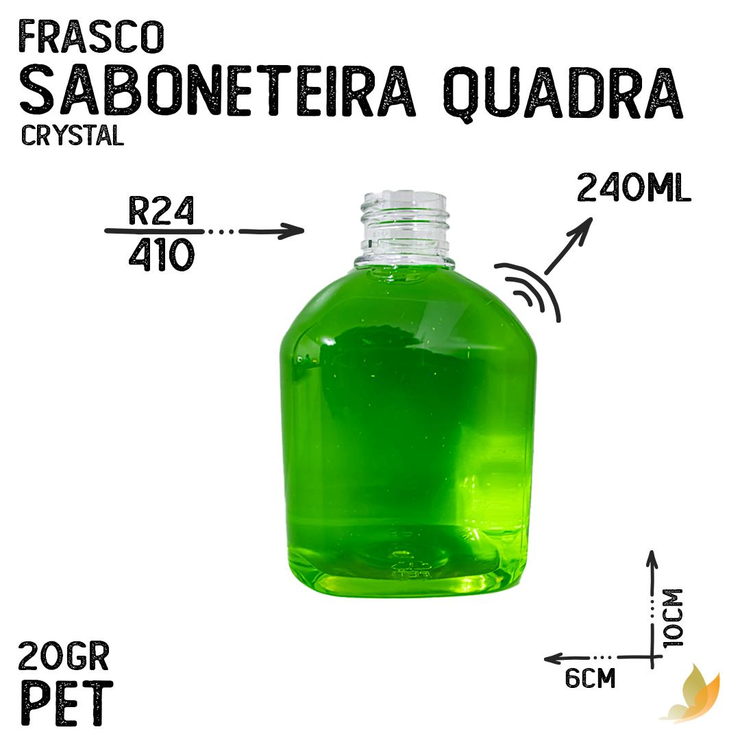 FRASCO PET SABONETEIRA QUADRA R24 240ML