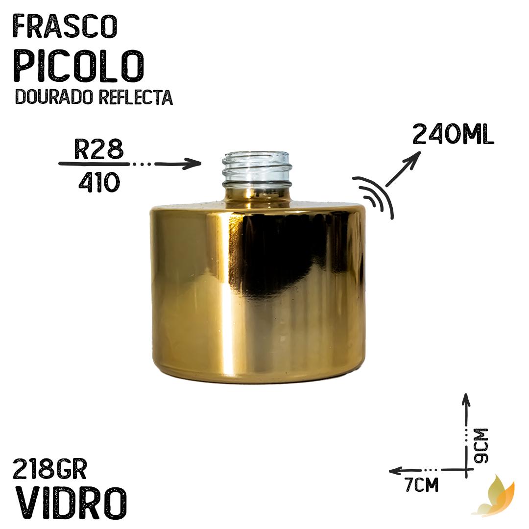 FRASCO PICOLO R28 DOURADO REFLECTA 240ML