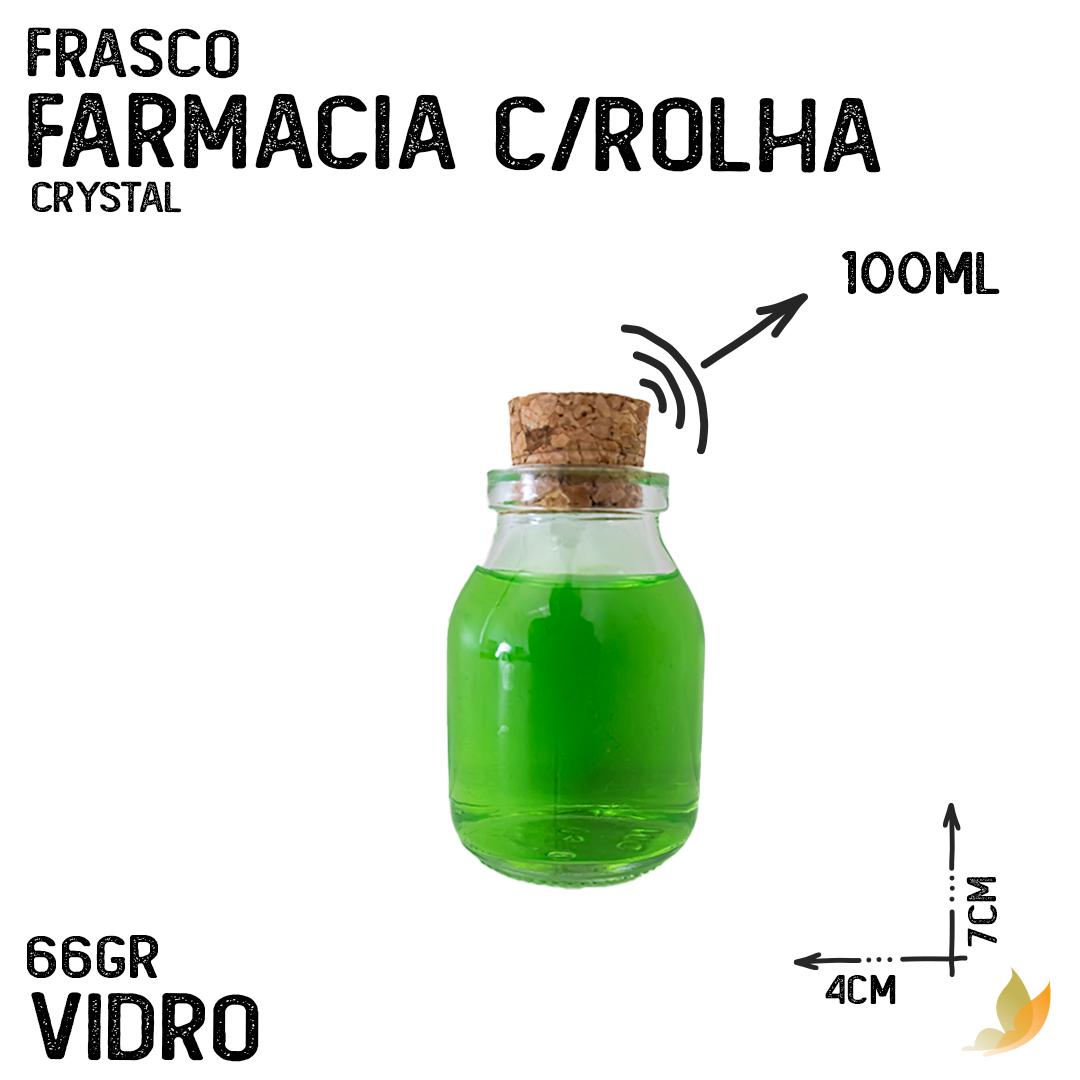 FRASCO SAIS CILINDRICO C/ROLHA 100ML