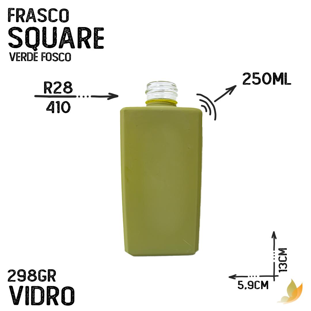 FRASCO SQUARE R28/410 VERDE FOSCO 250ML