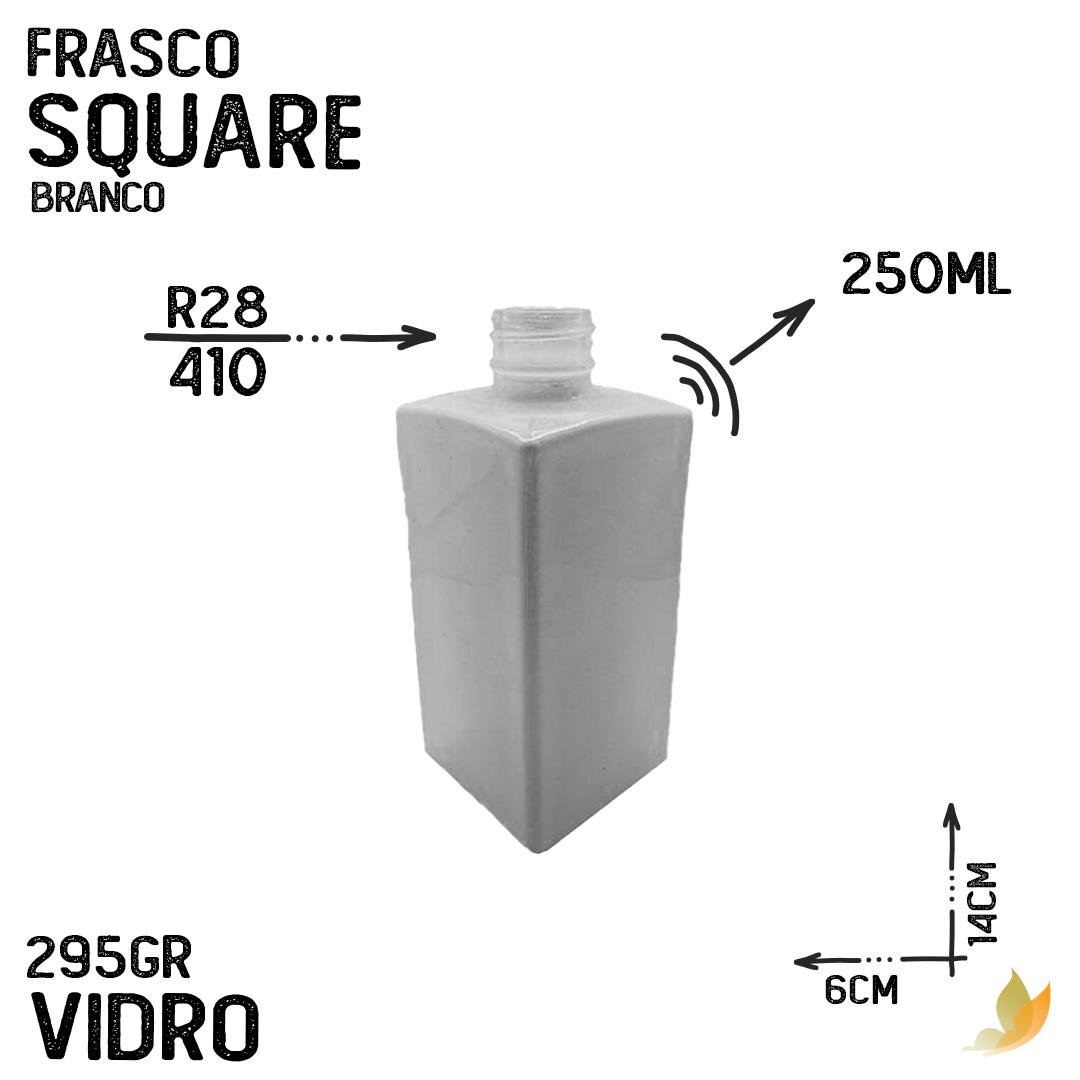 FRASCO SQUARE R28 BRANCO 250ML