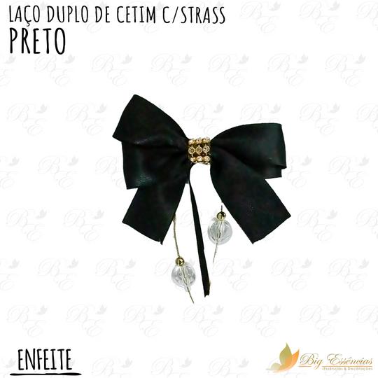 LACO DUPLO DE CETIM C/STRASS