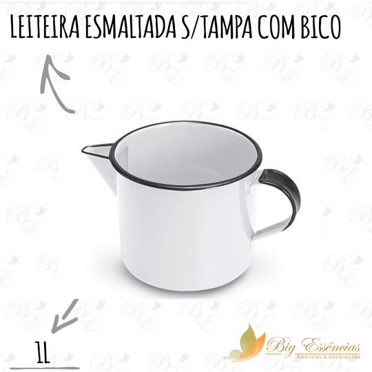 LEITEIRA ESMALTADA C/BICO S/TAMPA 1L