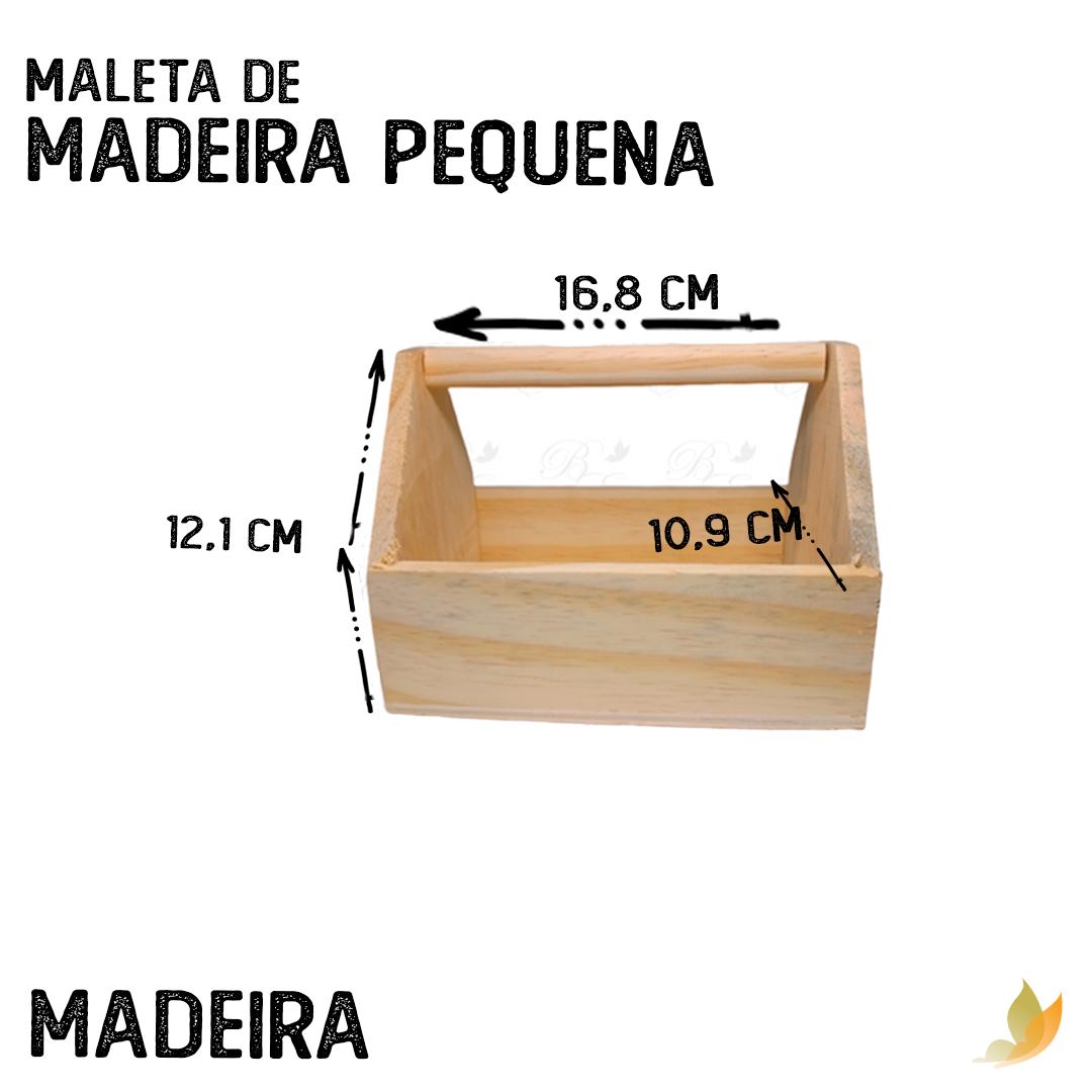 MALETA DE MADEIRA PEQUENA 17C X 10,5L X 12,5A