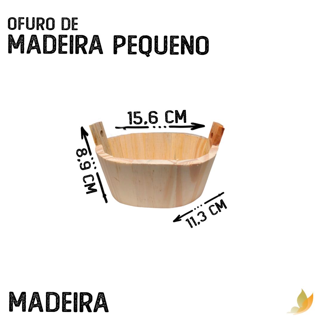 OFURO DE MADEIRA PEQUENO 14,5C X 9,5L X 5,5A