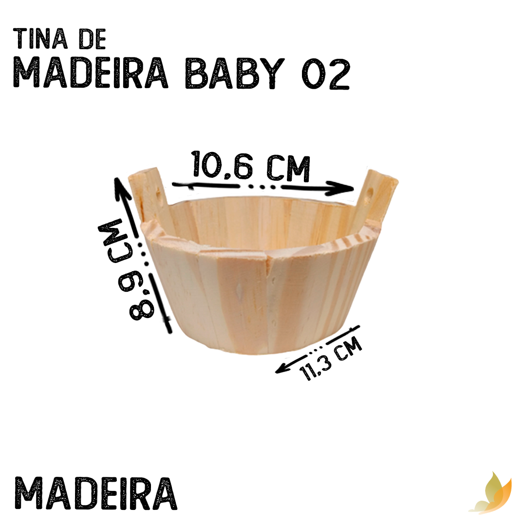 TINA DE MADEIRA BABY 02 4,5X11 CM