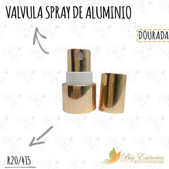 VALVULA SPRAY DE ALUMINIO R20/415