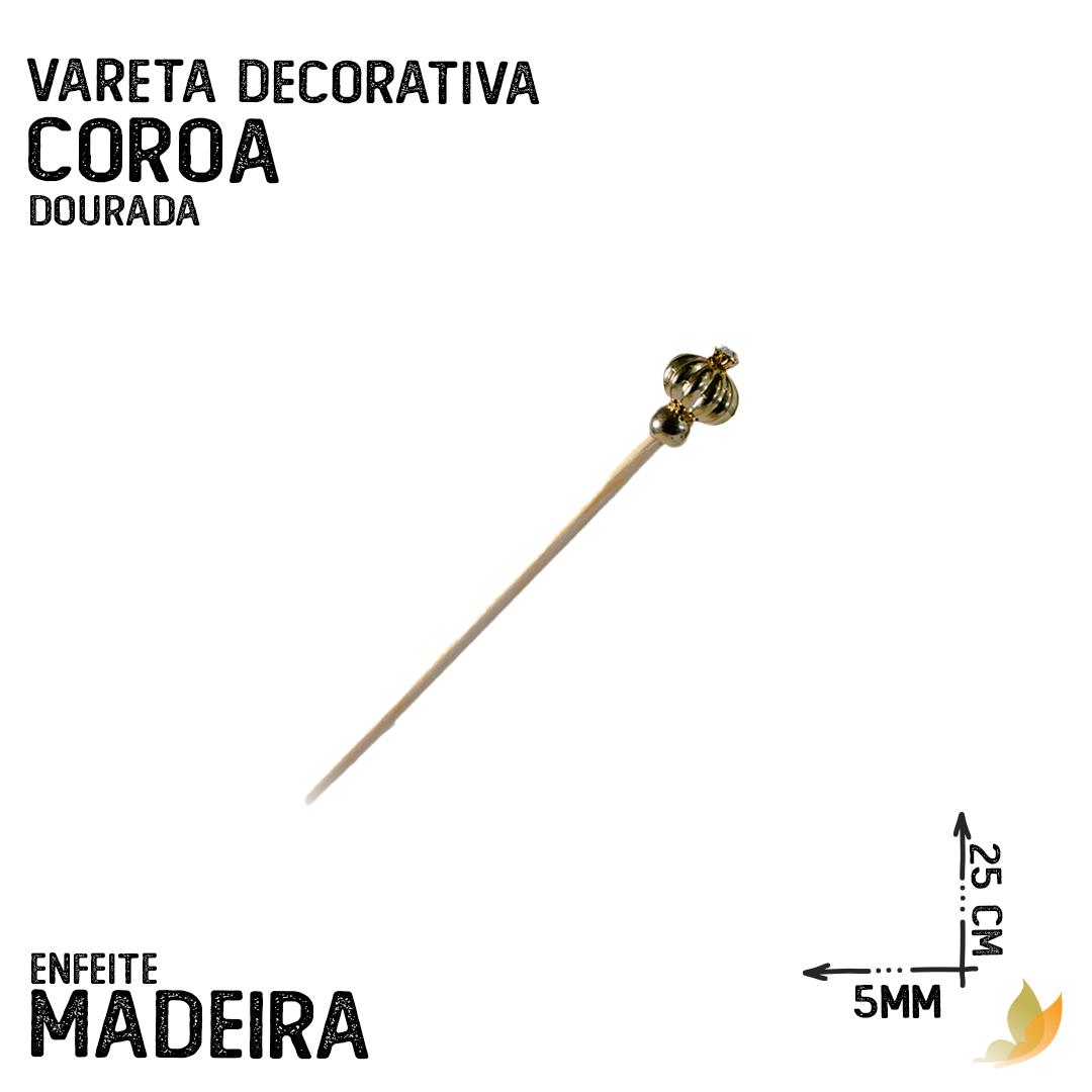 VARETA DECORATIVA COROA DOURADA